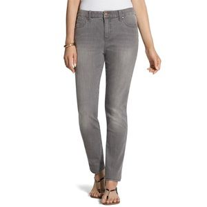 Chicos si slimming gray straight leg jeans…